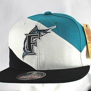 Florida Marlins  Teal/White/Black Baseball Hat Sna